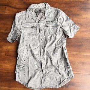 Guess Snap Button Down Shirt Top